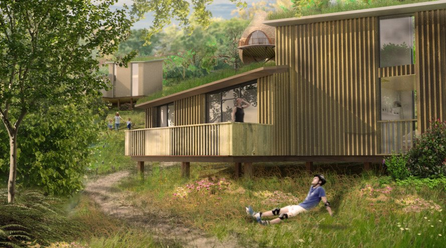 Nesting by Blue Forest, Blue Forest treehouses, treehouses, Nesting treehouses, Tate Harmer, Tate Harmer architect, Robin Hill Country Park, Isle of Wight, Vectic Ventures Ltd, weaver birds nests, weaver birds nest treehouse, glamping