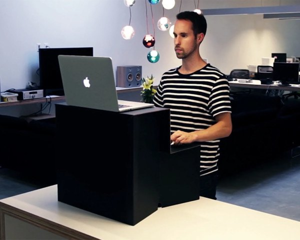 Oristand, standing desk, foldable standing desk, cardboard standing desk, portable standing desk, hootsuite, standing desk, affordable standing desk , reader submission