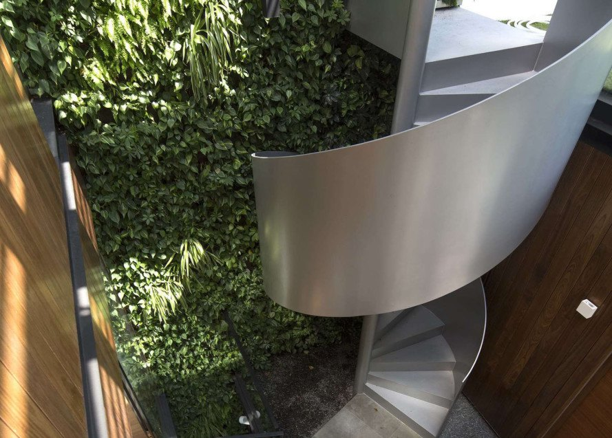 Paterson 3, Singapore, AR43 Architects, Singapore, residential architecture, timber cladding, glass facade, courtyard, green wall, natural light