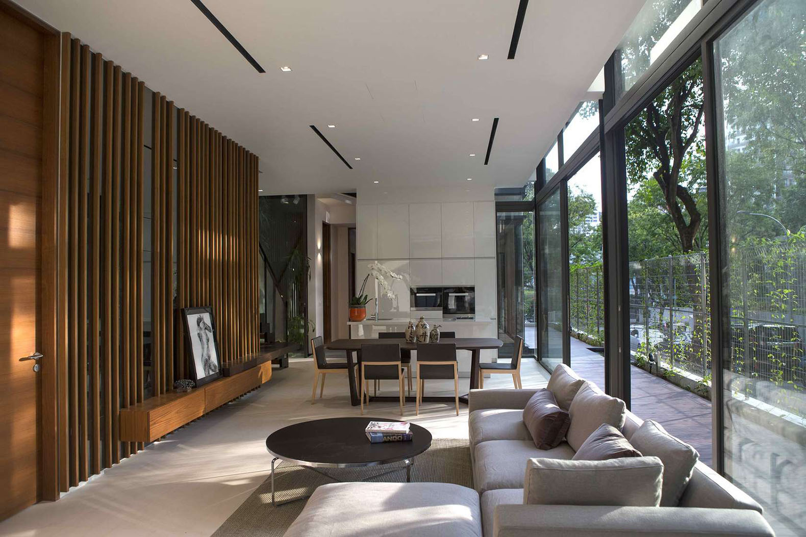 Dynamic residence in Singapore brings nature to the city with a