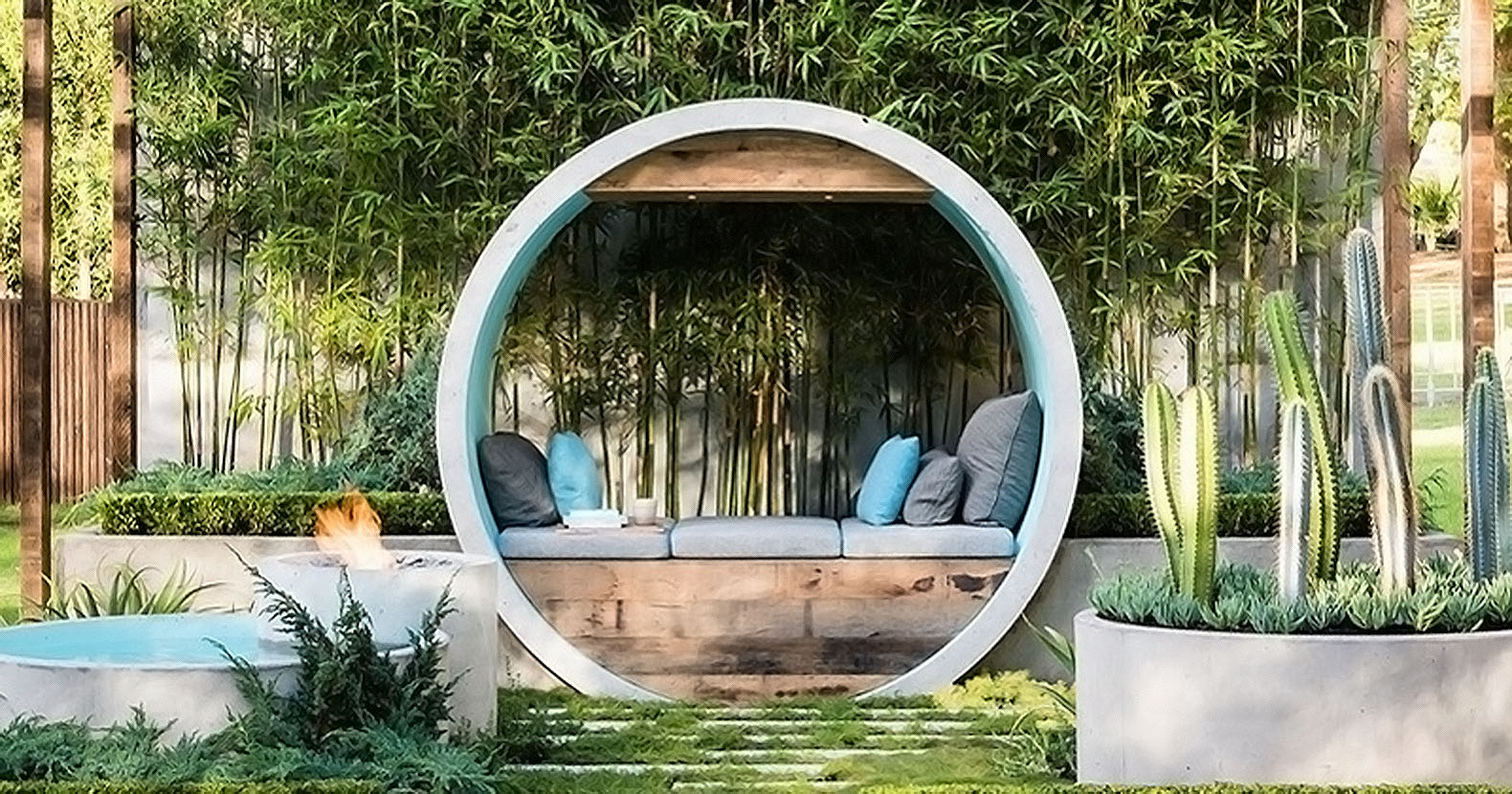 Alison Douglas Recycled Concrete Pipes To Create A Dreamy Urban Oasis