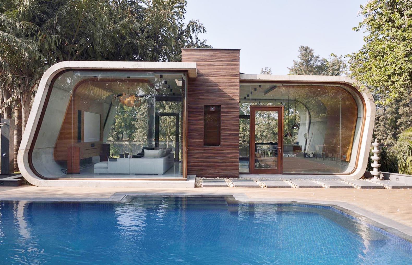 how to build a curved pool
