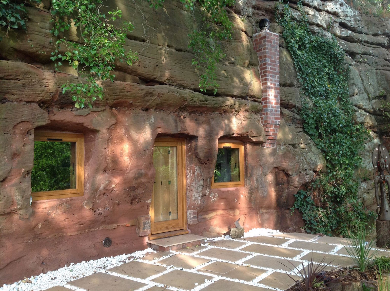 Man transforms 700-year-old sandstone cave into his luxury dream home