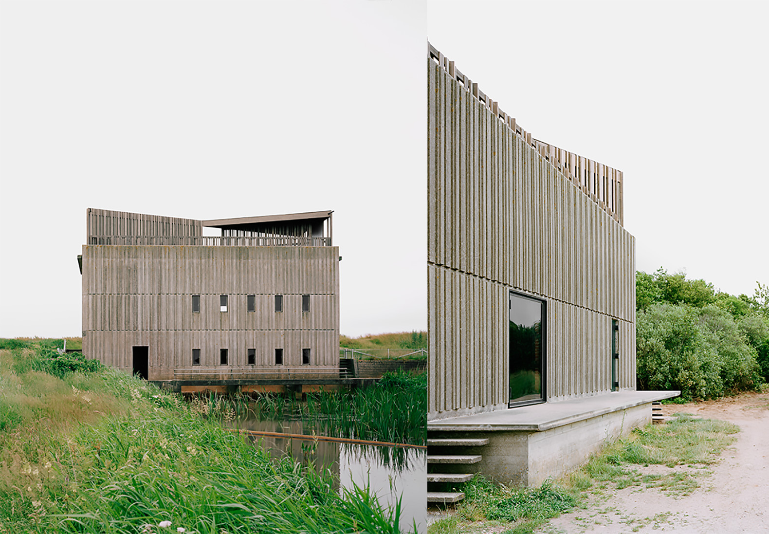 Architects transform brutalist brick pump stations into for Architecture brutaliste