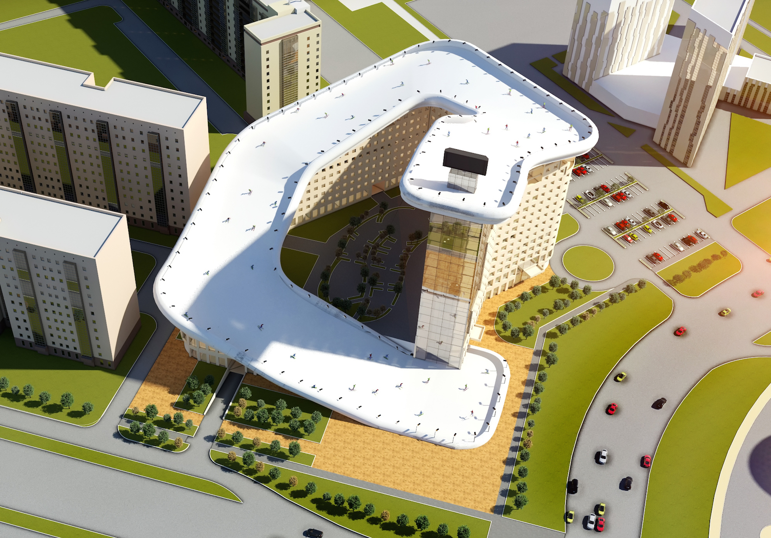World's first apartment topped with a ski slope could spring up in Kazakhstan
