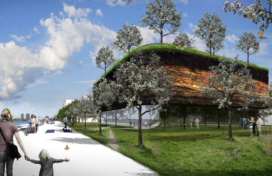 SubZero Pavilion, Floriade 2022, MVRDV expo, horticultural expo, green pavilion, rooftop greenhouse, winter garden, food production, green architecture, earth walls, green roof