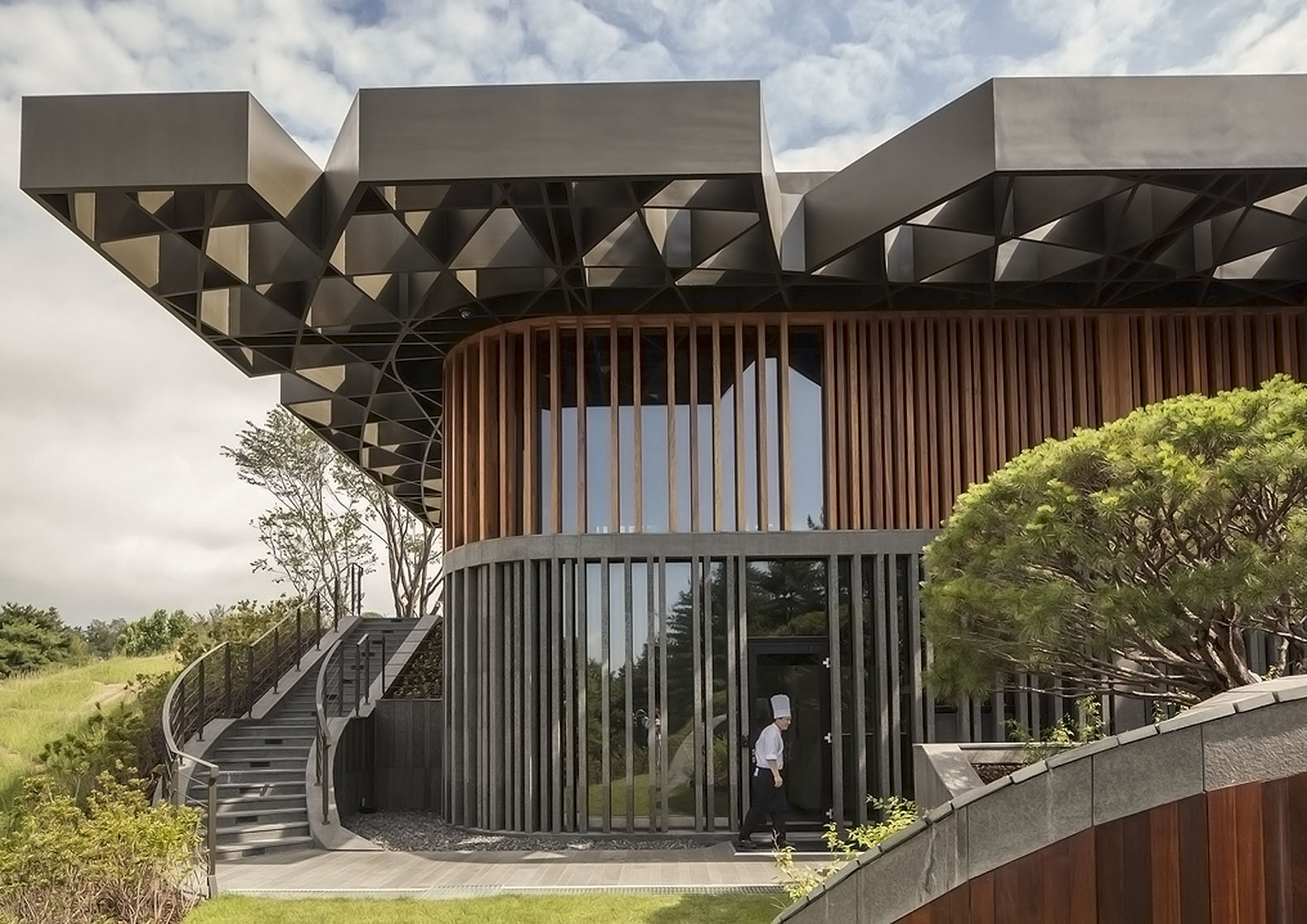 Mecanoou0027s Taekwang Country Club Café is topped with a roof inspired by a forest canopy & Canopy | Inhabitat - Green Design Innovation Architecture Green ...