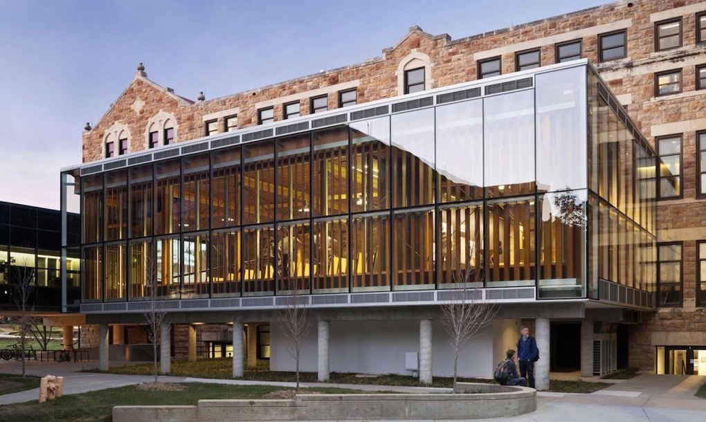 students design and build a gorgeous leed platinum-seeking forum in kansas
