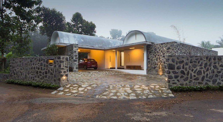 Superb Passively Cooled Walls And Vaults House In India Brings Lush Download Free Architecture Designs Intelgarnamadebymaigaardcom