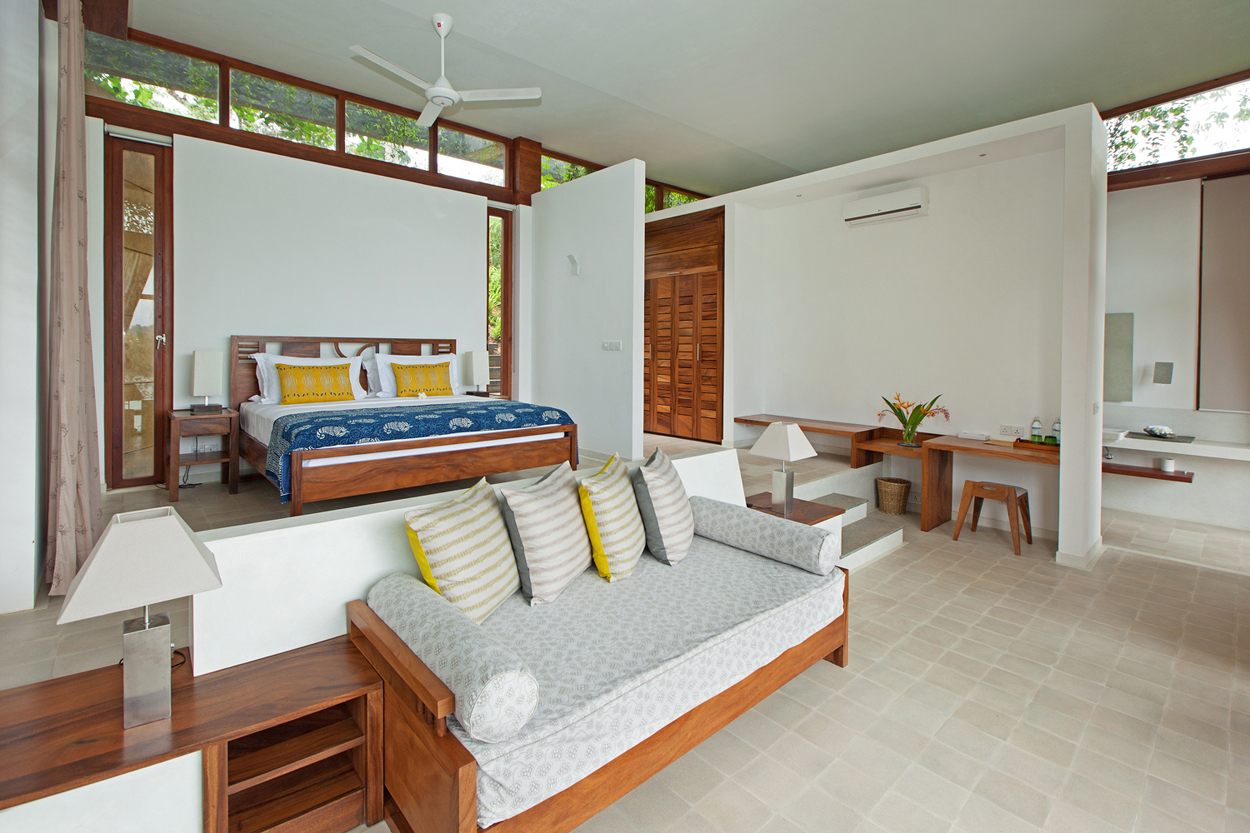 Verdant tri lanka resort features a suite of green roofs for Bedroom designs sri lanka