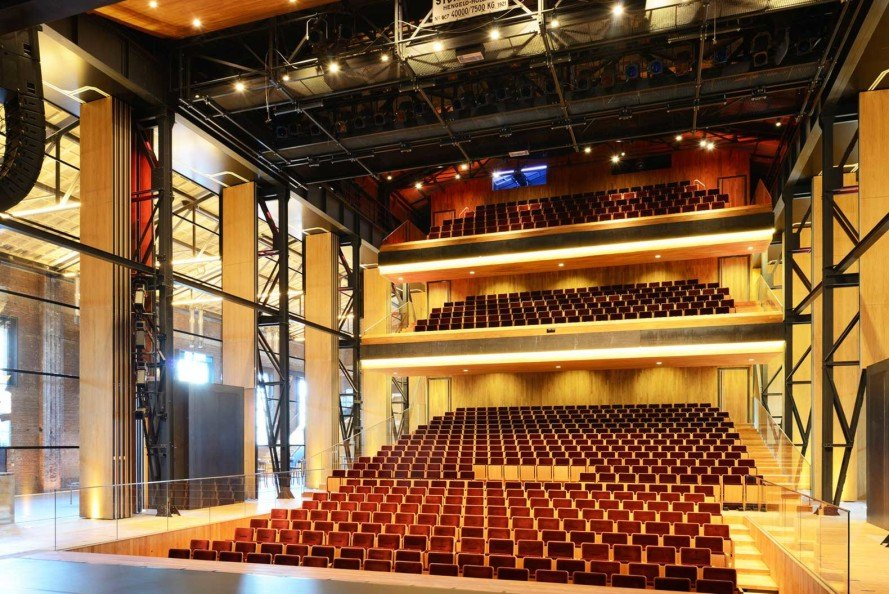 Van Dongen-Koschuch, renovated docklands building, Theatre De Kampanje, Den Helder, The Netherlands, Frits van Dongen and Patrick Koschuch, renovated theatre, Willemsoord