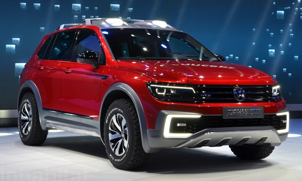 Vw Unveils Plug In Hybrid Tiguan Gte Active Suv With Driving