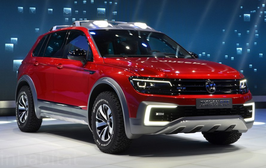 Volkswagen Tiguan GTE Active, Volkswagen, VW, 2016 Detroit Auto Show, NAIAS 2016, Detroit Auto Show, NAIAS, electric vehicles, green cars, green transportation, sustainable transportation, plug-in hybrid, hybrid car, hybrid-electric vehicle, hybrids