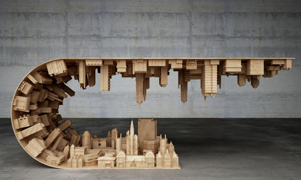 Inception Inspired Coffee Table Bends The Mind With An