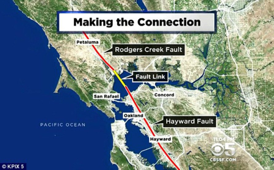 Alarming Research Reveals That Two Of The Countrys Most Dangerous - Hayward fault line map