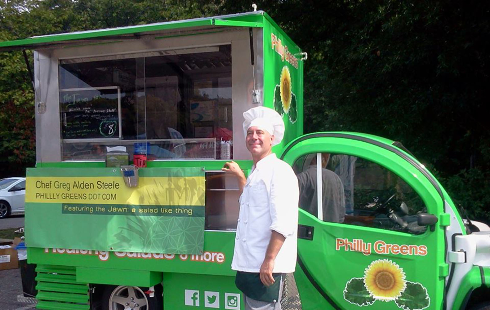 Philadelphia Chef Transforms Electric Utility Vehicle Into Green Food Truck