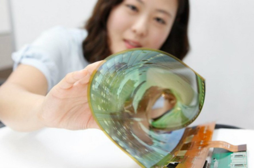 flexible screens, smartphone screens, rollable smartphone screens, LG rolling screen, bendable screen