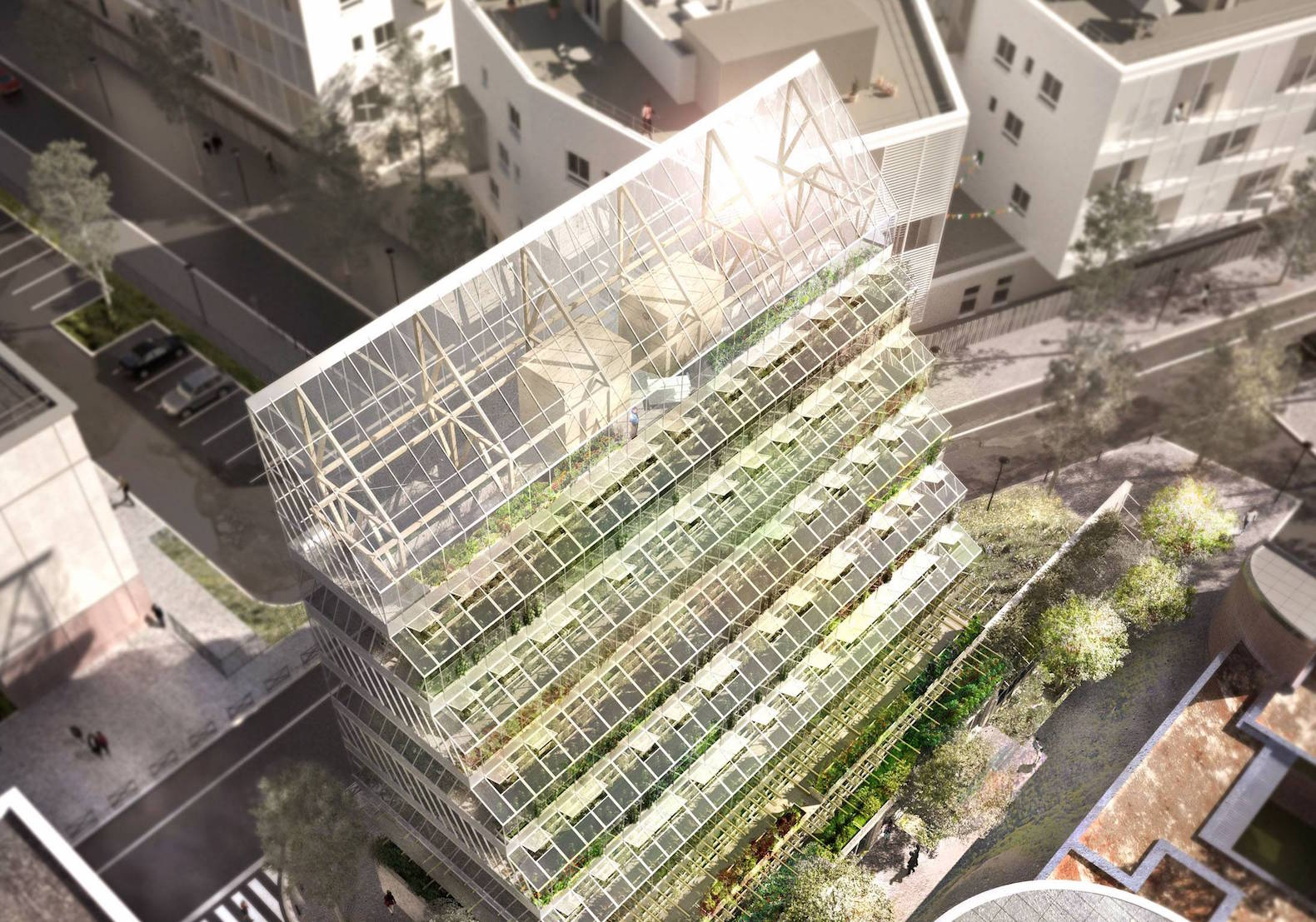 High Quality Ziggurat Like Vertical Farming Tower Would Soak Up The Sun In Paris