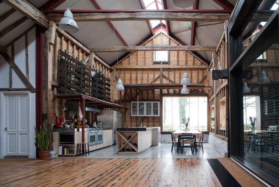 Ancient Party Barn, Liddicoat & Goldhill, RIBA award, LEDs, SIPs, barn conversion, renovated building, green renovation, recycled materials, John Sinclair, Deborah Harvey, adaptive reuse, ground source heat pump,