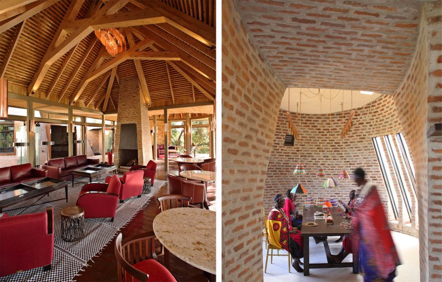 Out of Africa, Maasai Mara reserve, Kenya lodge, Kenya safari lodge, Maasai vernacular, conical brick buildings, tented suites, conical brick building, Silvio Rech and Leslie Carstens, African design, colonial architecture, out of africa film set, Angama Mara safari lodge, contemporary African design