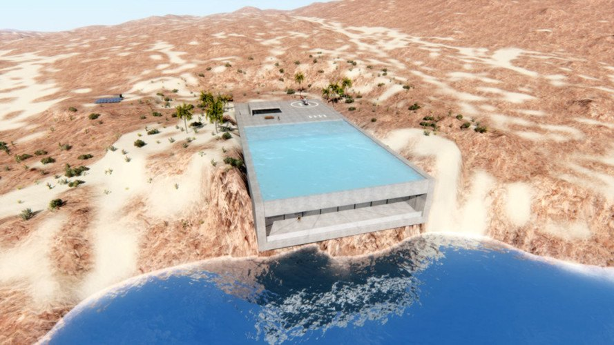 Aqua Casa, Bel kharmoudi Aziz, Aqua Casa by Bel kharmoudi Aziz, cliffside home, cliffside home design, waterfront luxury home, solar-powered luxury home, energy neutral architecture,