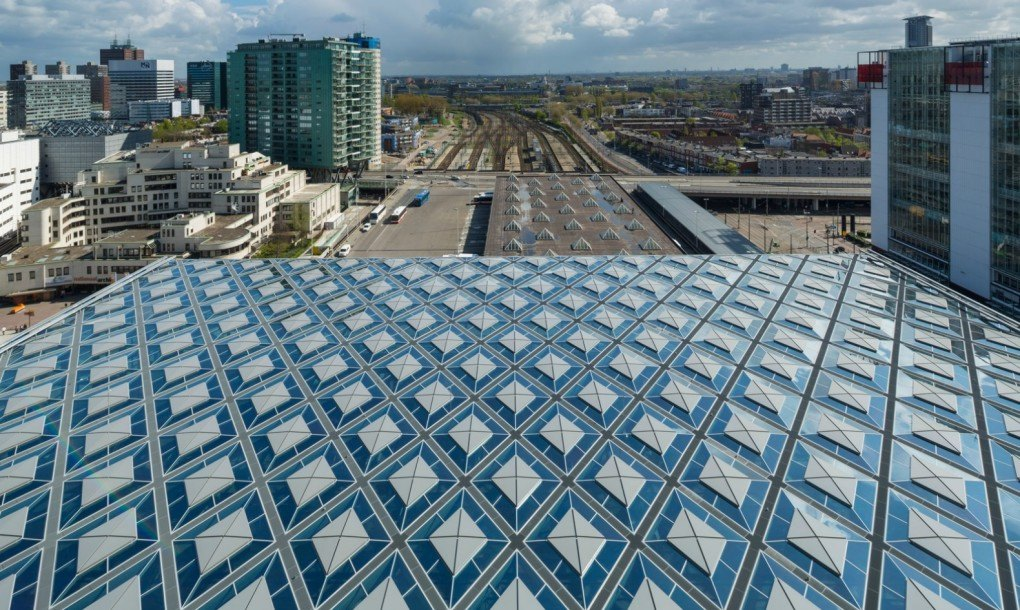 Architects Cover Hague Railway Station With Trippy Diamond