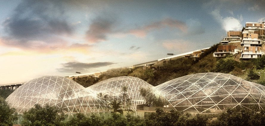 Istanbul, Turkey, Avchi Architects, bubble greenhouse, greenhouse bubble, retail center covered by giant bubbles, giant transparent bubbles, Turkey retail center, green design Turkey, eco development turkey, retail center like a greenhouse, green retail center turkey, giant greenhouse for shoppers