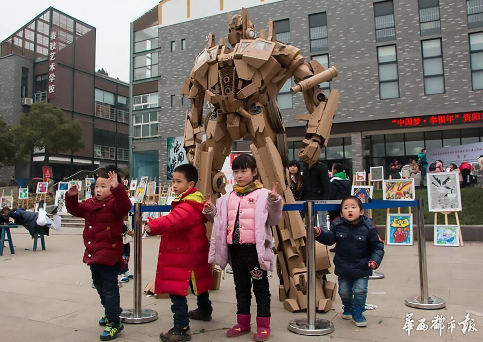 how to make a cardboard transformer costume that transforms