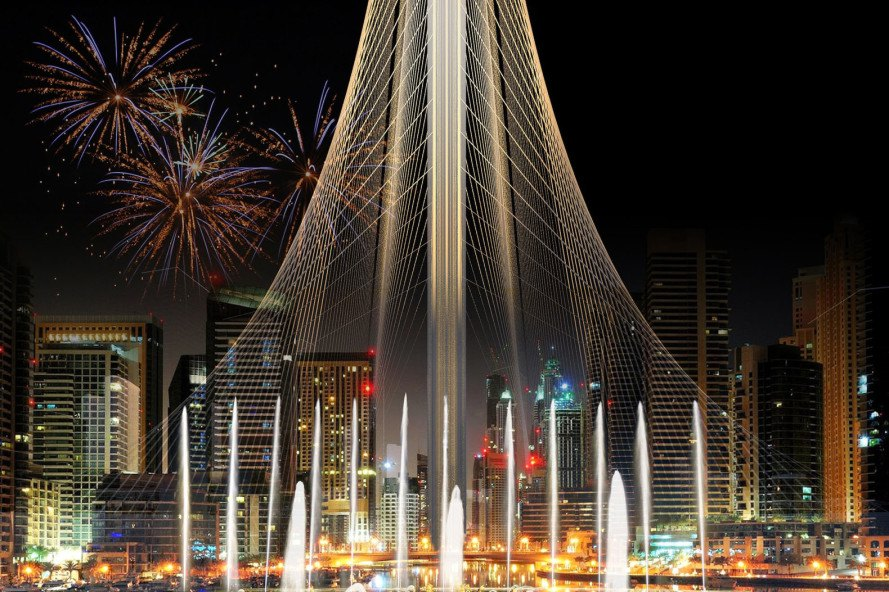 Dubai Creek Observation Tower by Santiago Calatrava