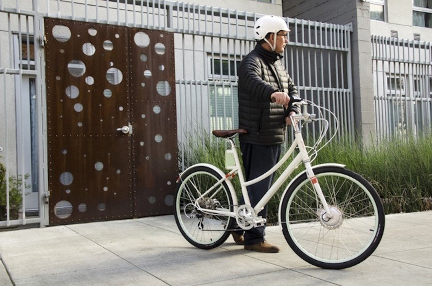Faraday, Faraday bicycles, Faraday Cortland, Faraday Porteur, electric bicycle, electric bike, e bike, stylish electric bicycle, LED headlight, Faraday Cortland S, hydraulic disc brake, step-through frame, green transportation, Shimano Alfine hub, Faraday Cortland electric bicycle