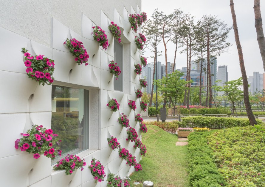 oa lab, flower+ kindergarten, korea architecture, kindergarten architecture, jungmin nam, green building, solar power, rainwater collection, kid-friendly architecture