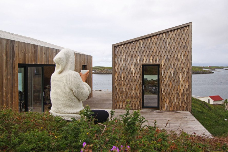 Kebony, sustainable wood, Norway, Arctic Circle artist retreat, Håvard Lund, Fordypningsrommet, TYIN tegnestue, green design Norway, North of Arctic Circle, sustainable design Norway, resilient design Norway, Northernmost artist retreat