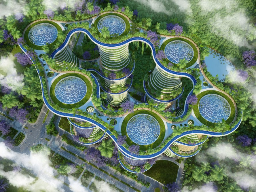 urban farming, aquaponics, Vincent Callebaut, self sustaining architecture, urban design, sustainable urban design, green architecture, organic farming, urban agriculture, India, Hyperions, vertical farming