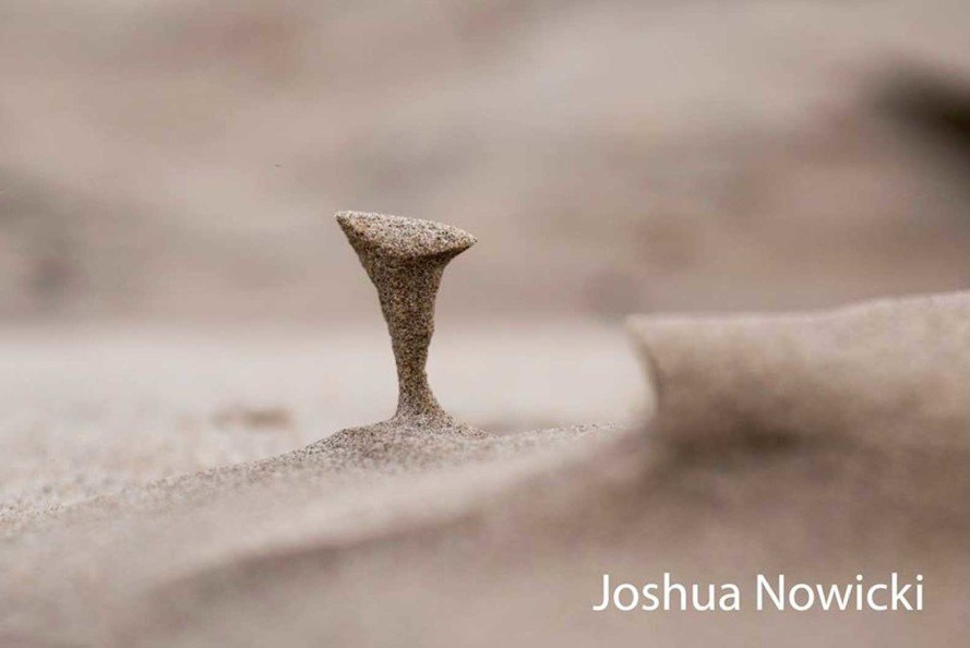 Joshua Nowicki, sand formations, Silver Beach County Park, Saint Joseph, Michigan, Facebook Page EarthSky, wind erosion, frozen sand