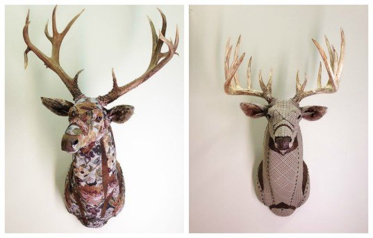 Artist Makes Life Sized Faux Taxidermy Animals From