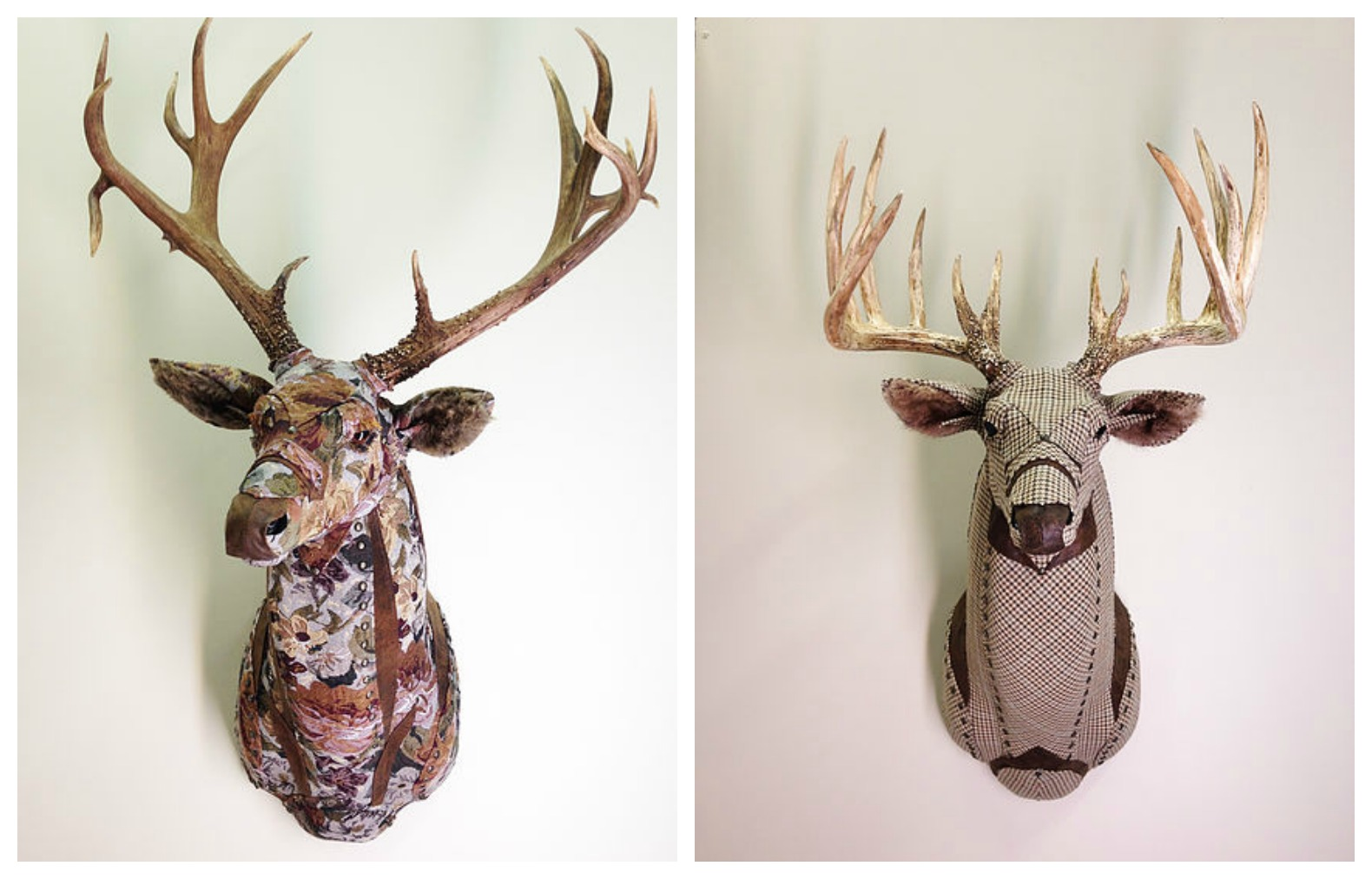 Little Stag Studio, Faux Taxidermy, Cruelty Free Trophy Animal Decor,  Recycled Upholstery