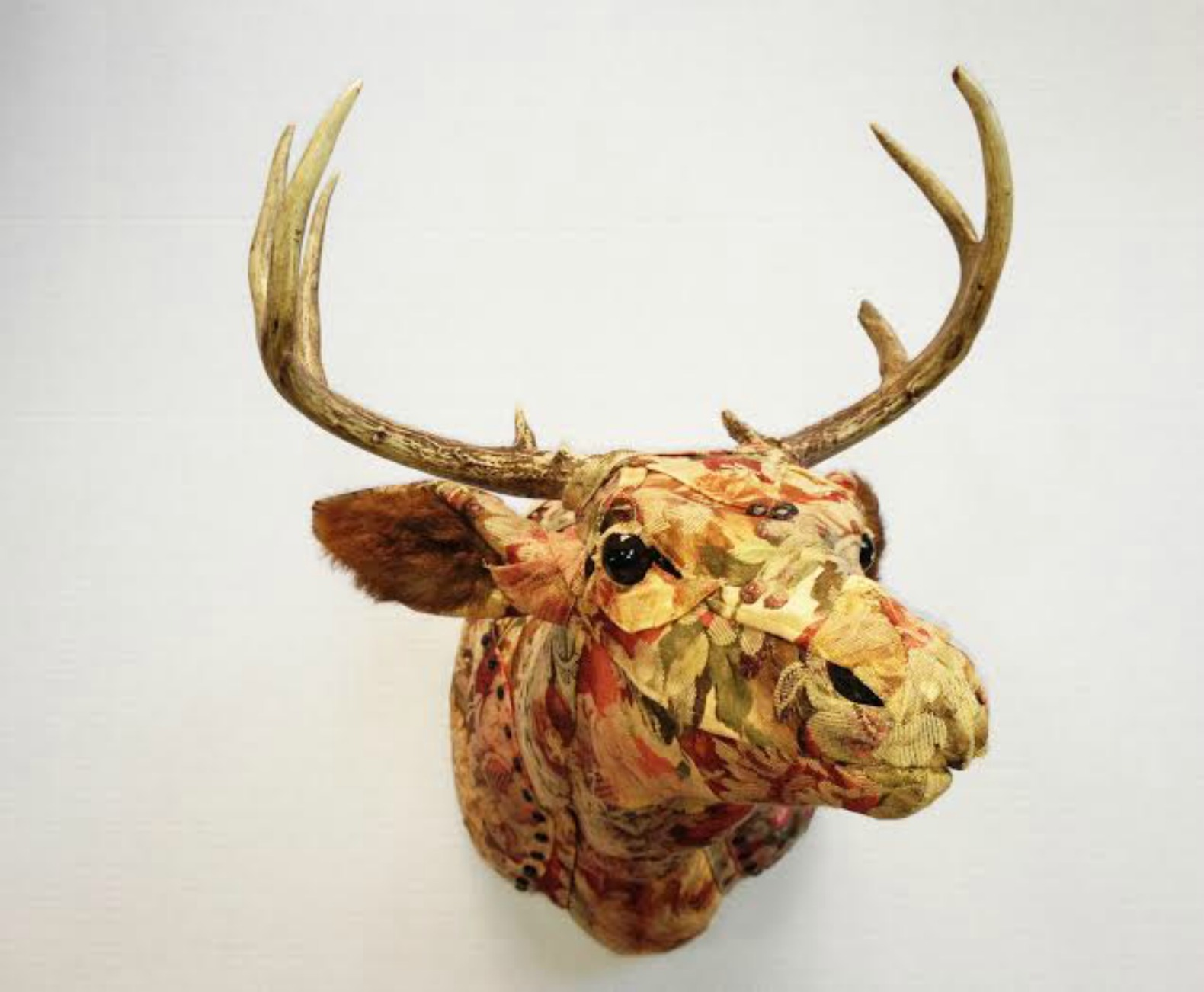 Artist Makes Life Sized Faux Taxidermy Animals From Upcycled Fabric Swatches