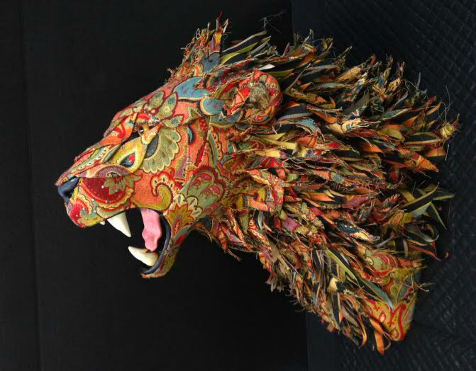 Artist Makes Life Sized Faux Taxidermy Animals From Upcycled Fabric