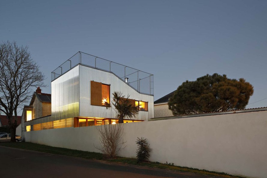 Mabire Reich, Landscape House, terraces, patio, France, house in Nantes, green architecture, green extension, extension