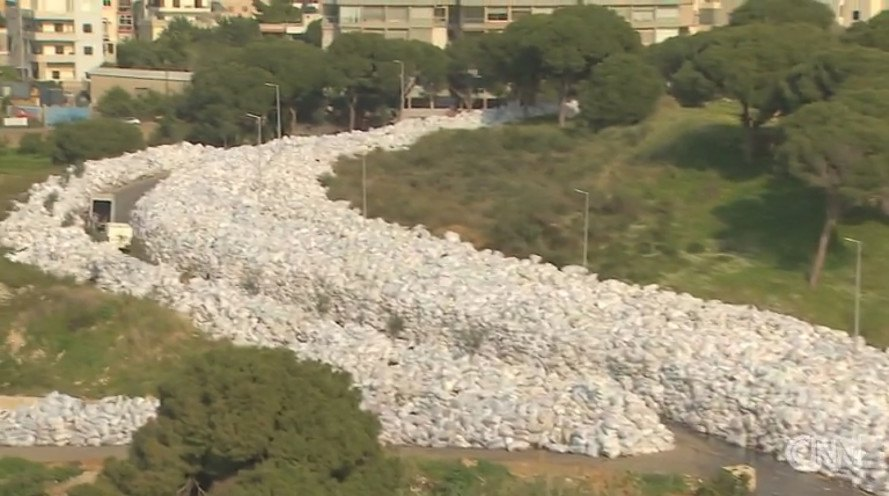 Lebanon, Beirut, river of trash, government, health crisis