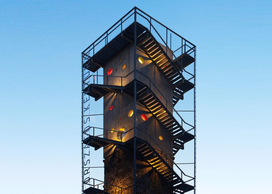 Lookout tower at galyateto by nartarchitects inhabitat for Observation tower plans