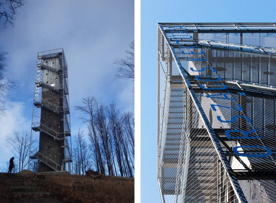 Galyateto tower, lookout tower, Hungary, Nartarchitects, renovated lookout tower, observation tower, green renovation, reinforced concrete, shelter