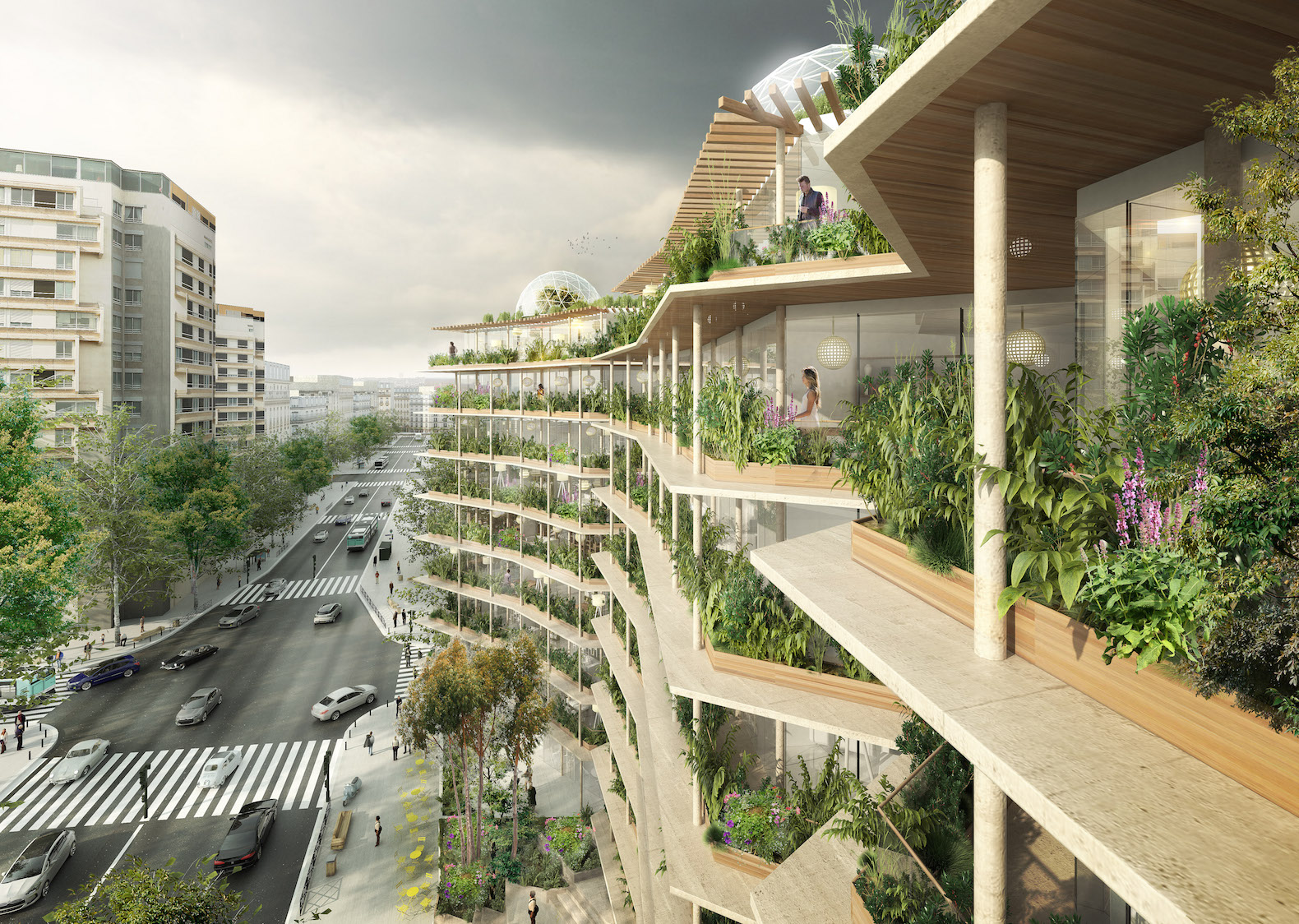 Lush green oasis and rooftop farm will reinvent paris for Architecture de jardin