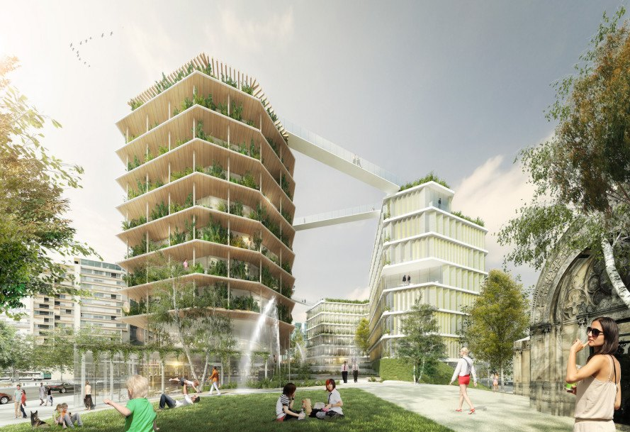 Jacques Ferrier Architecture, Chartier Dalix Architectes, SLA Landskab, Reinventer Paris, Paris, green roofs, urban gardening, urban farming, rooftop gardens, Mayor Anne Hidalgo, Multi-Layered City by Jacques Ferrier Architecture, Boulevard Périphérique
