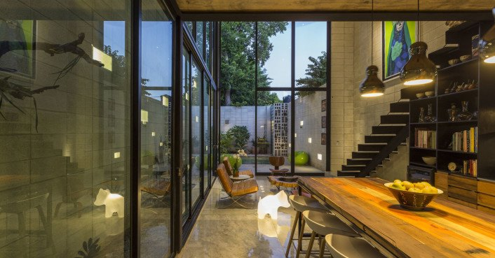 Naked House is a narrow, naturally ventilated family home