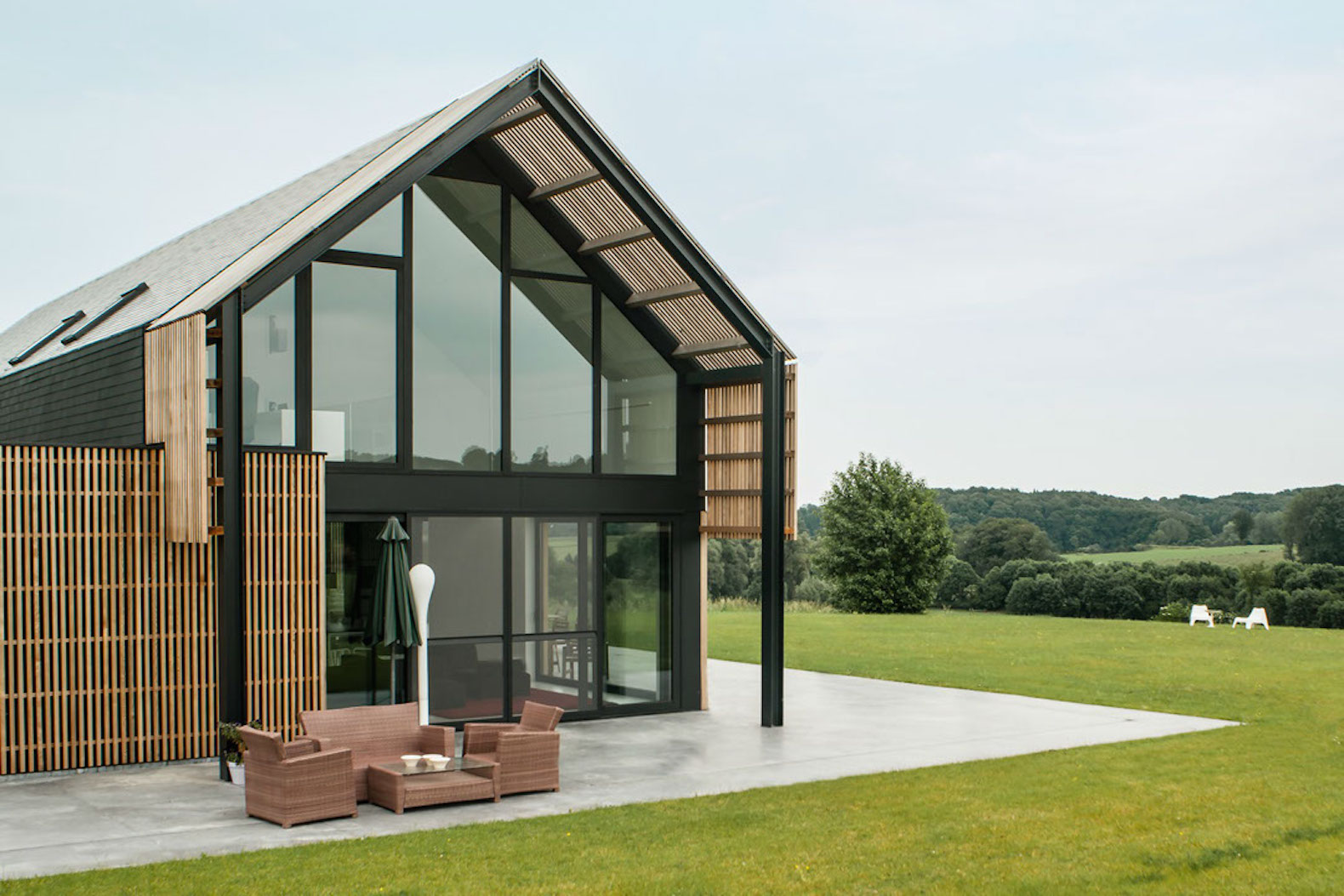 old belgian barn is transformed into a gorgeous contemporary home