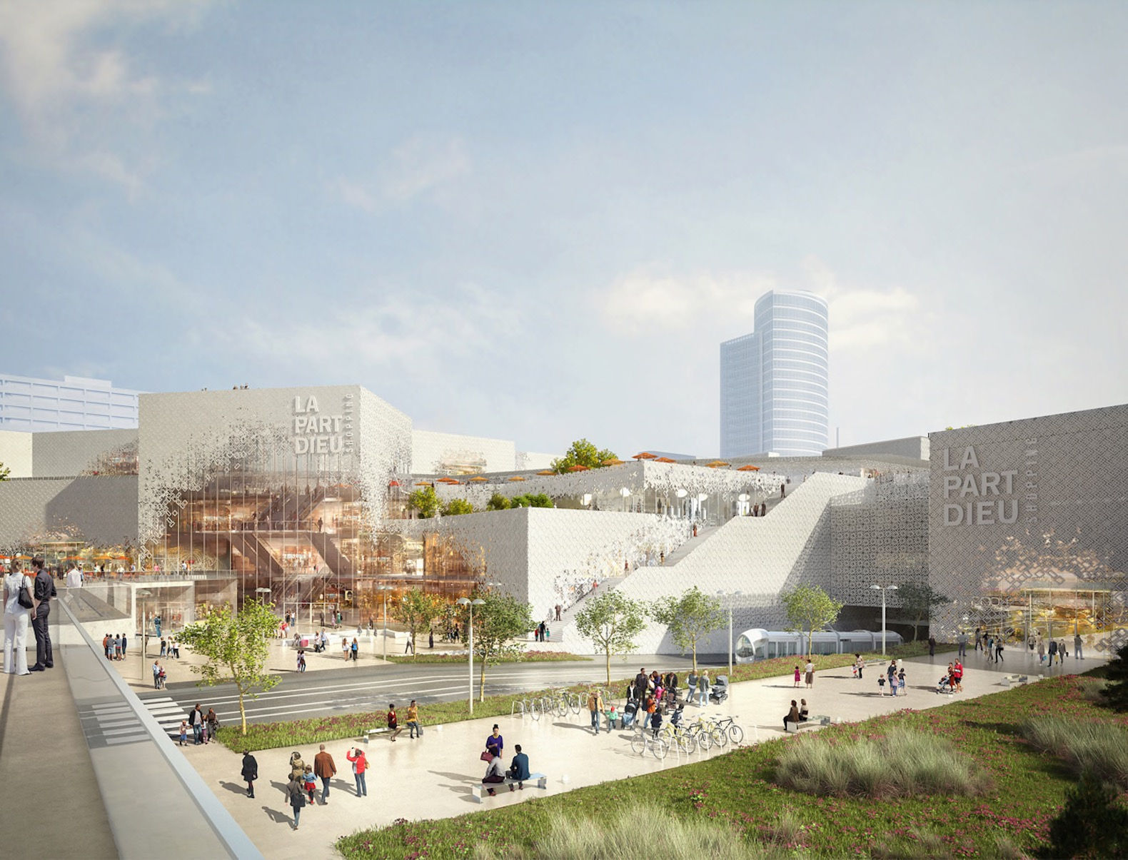 Giant Green Roof To Top Mvrdv S Redesign Of Lyon S Iconic