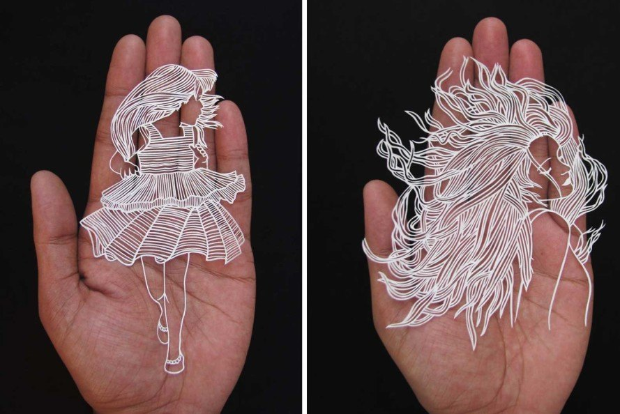 Parth Kothekar, intricate art, papercut art, India, paper butterfly, paper animals, papercut knife, Ahmedabad