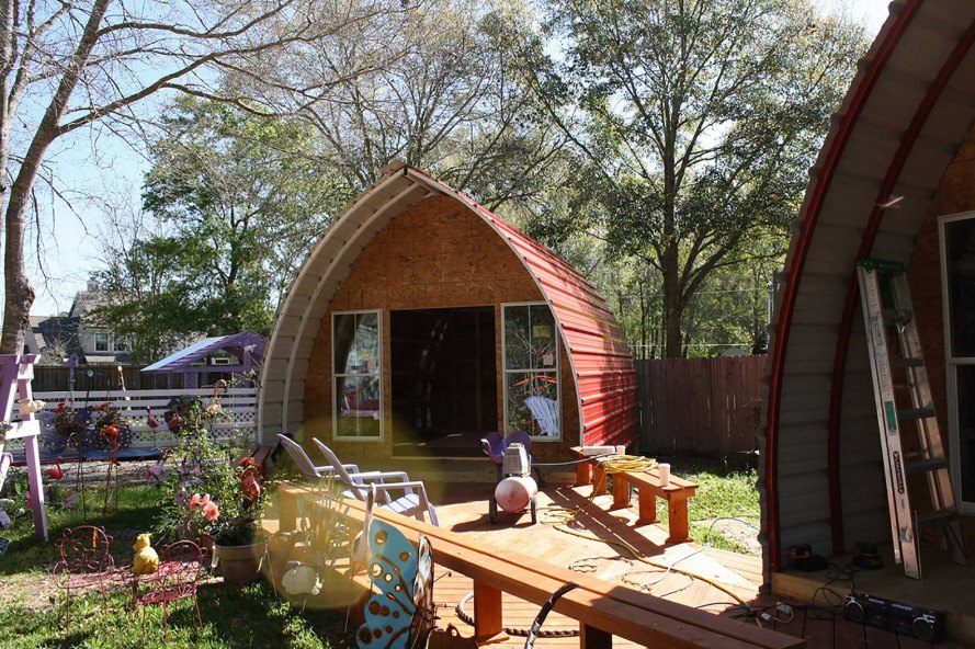 Prefabricated Arched Cabins Inhabitat Green Design Innovation - Backyard cabin kits