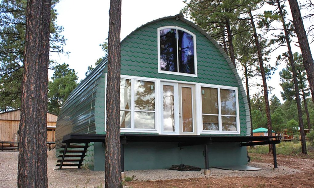 Prefabricated Arched Cabins Can Provide A Warm Home For